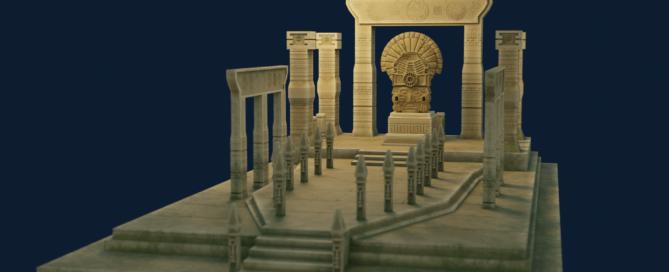 3D Aztec Temple